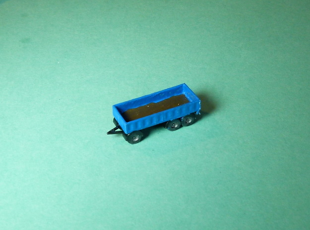 3-Axle Trailer, 3-Achs Anhänger 1/285 6mm in Smooth Fine Detail Plastic