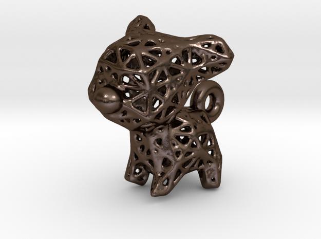 Voronoi Puppy in Polished Bronze Steel
