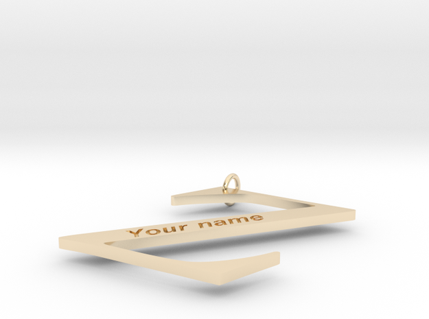Z (Personalize with your name) in 14K Yellow Gold