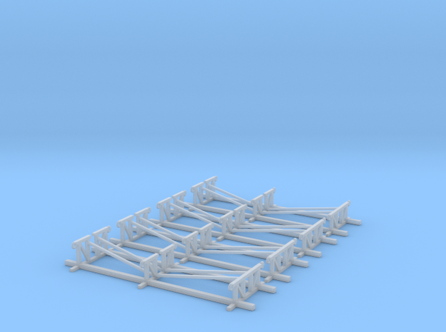 LCVP Boat Stands Z Scale in Smooth Fine Detail Plastic