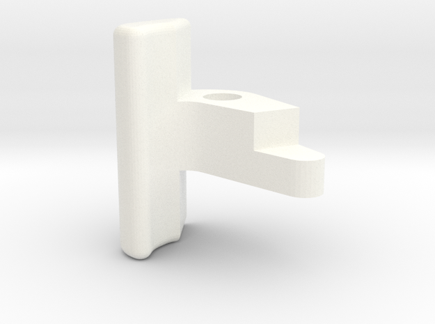 """3/4"""" Scale Coupler Knuckle in White Strong & Flexible Polished"""