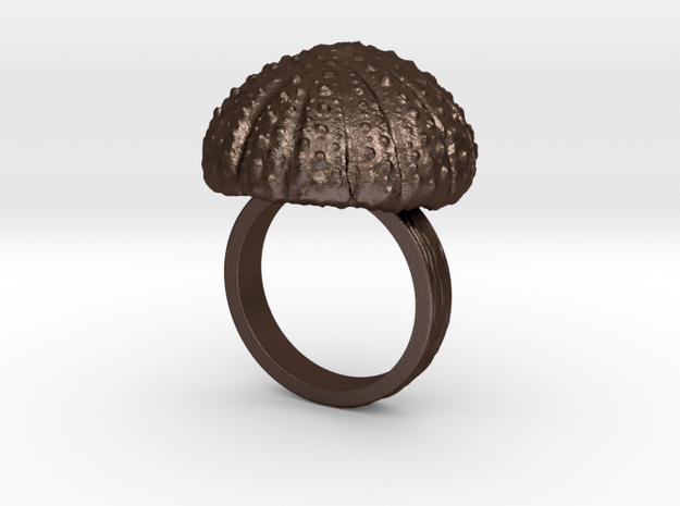 Urchin Statement Ring - US-Size 9 (18.89 mm) in Matte Bronze Steel