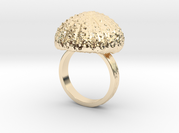 Urchin Statement Ring - US-Size 10 1/2 (20.20 mm) in 14k Gold Plated Brass