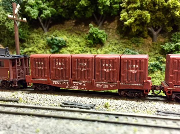 PRR DD1 Containers in N scale