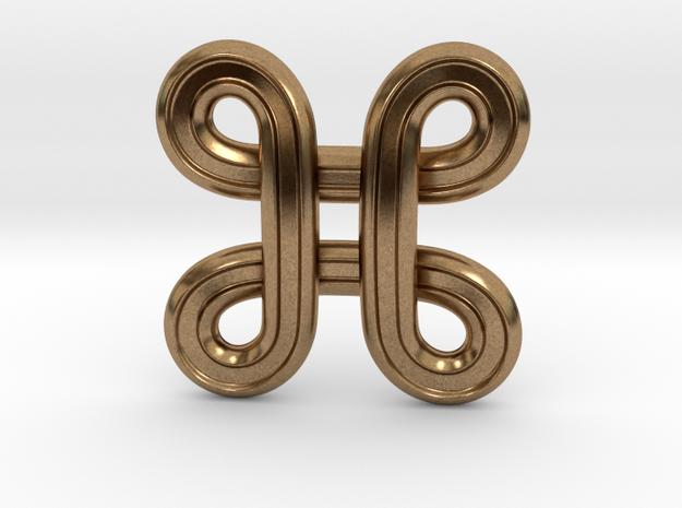 Star Symbol in Natural Brass