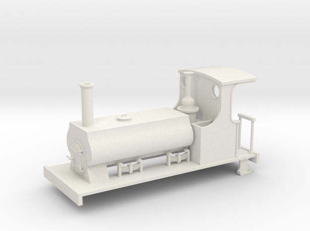 On16.5 C&MLR Barclay saddle tank in White Strong & Flexible