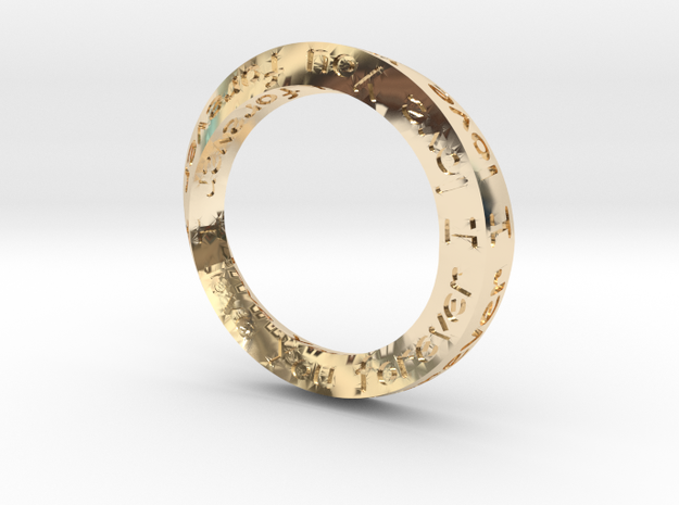 """Mobius ring """"I Love You Forever"""" Size 5"""