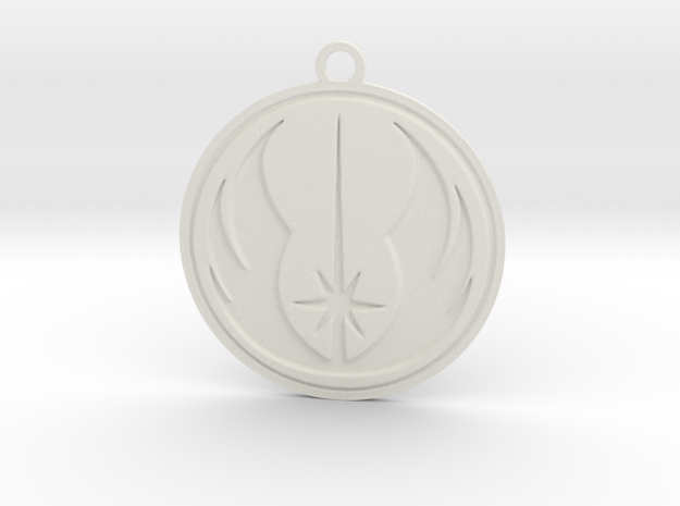 Jedi Pendant in White Natural Versatile Plastic