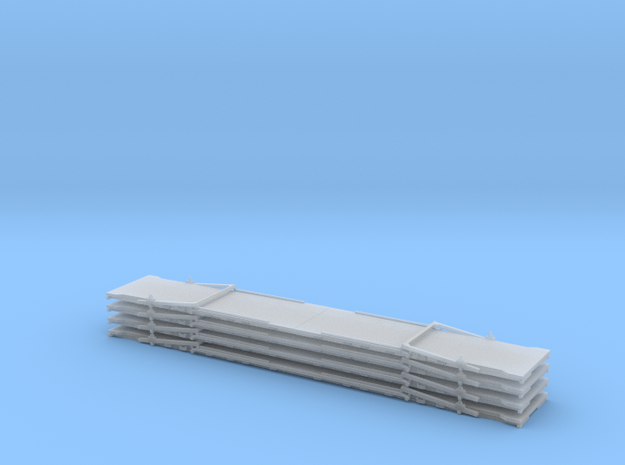 N 53' Raildeck - Flat - Stack (4) in Smooth Fine Detail Plastic