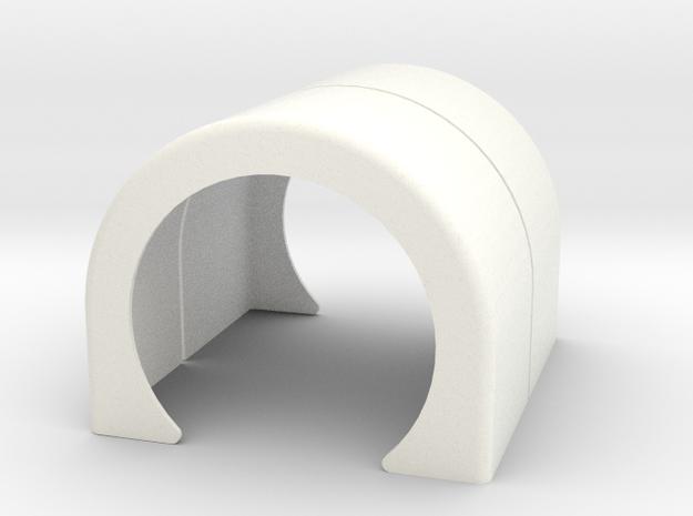 Single Fender style 2 in White Processed Versatile Plastic