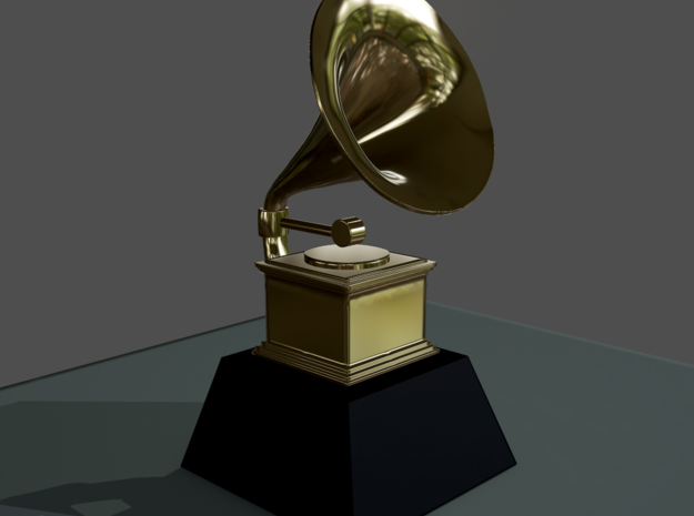 Customizable Grammy in White Natural Versatile Plastic