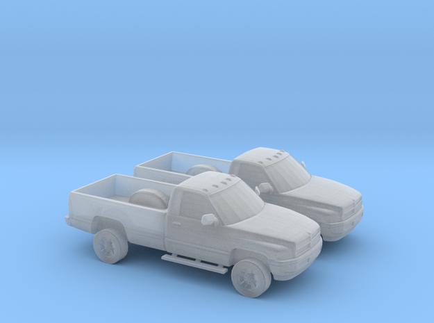 1/160 2X 1995 Dodge Ram Single Cab in Smooth Fine Detail Plastic