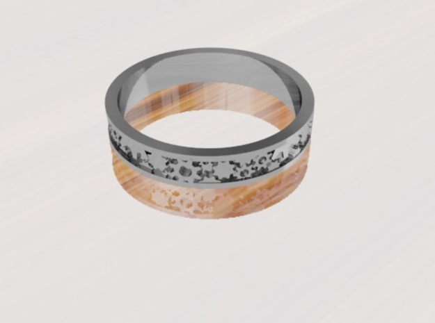 Gear Themed Ring: Size 7 3/4 in Polished Bronze Steel