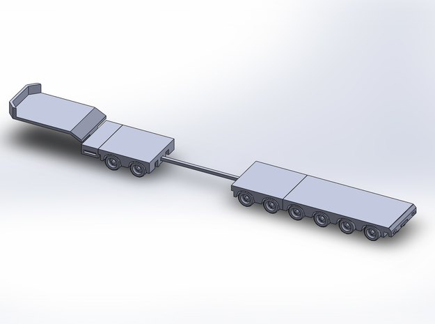 1:160/N-Scale 2+6 Axle Semitrailer in Frosted Ultra Detail