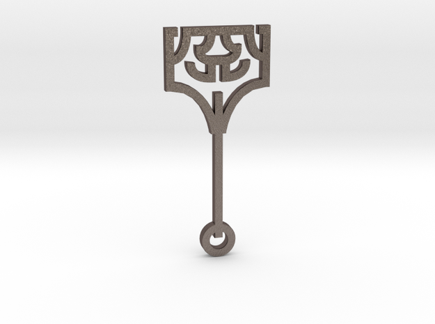 Hammer / Martillo in Polished Bronzed Silver Steel