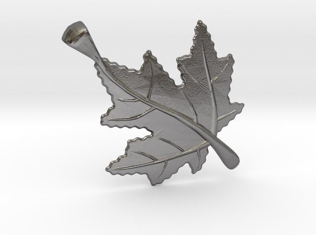 Canadian Maple Leaf in Polished Nickel Steel