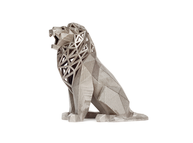 Roaring Lion in Polished Nickel Steel