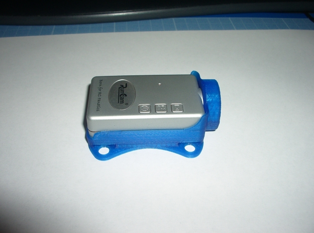 Runcamhd holder for Argonaut 370 in Blue Processed Versatile Plastic