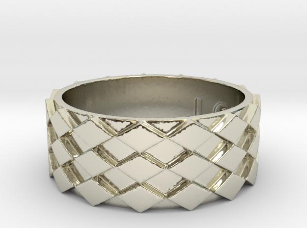 Futuristic Diamond Ring Size 13 in 14k White Gold