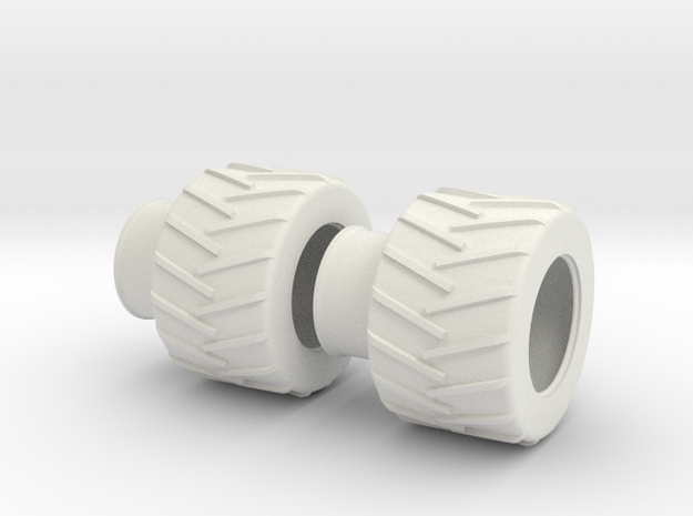 1:87 Skidder in White Natural Versatile Plastic