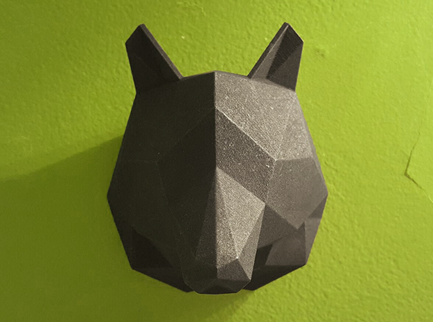 Wolf in Black Natural Versatile Plastic