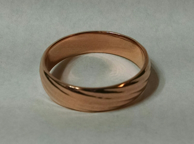 Spiral Ring size 12 in 14k Rose Gold Plated Brass