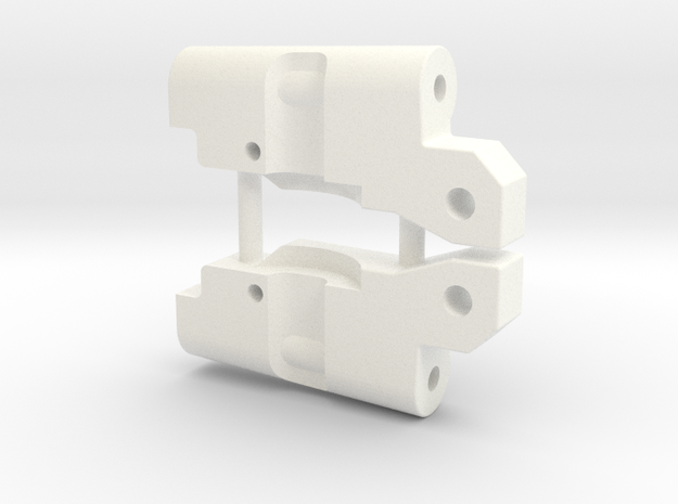 '91 Worlds Conversion - Rear Arm 3-3 Mounts in White Processed Versatile Plastic