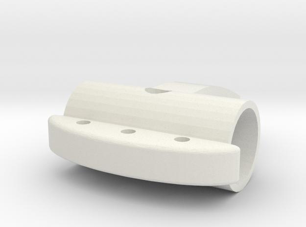 Self Defense Slider for pens & flashlights in White Strong & Flexible: Small