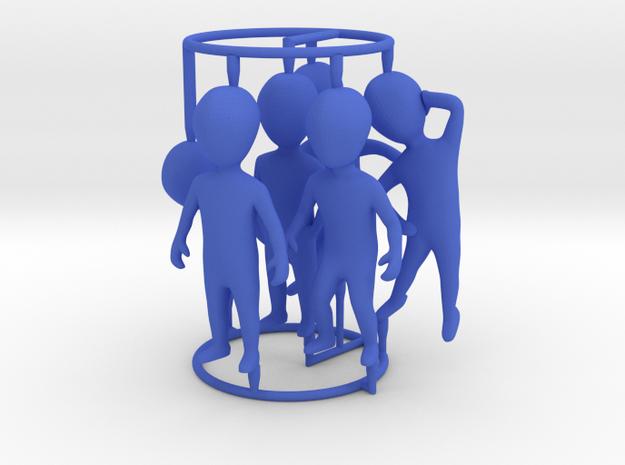 6 pose small figures kit in Blue Processed Versatile Plastic