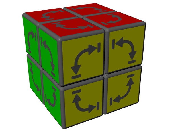 Alternating Cube 3d printed