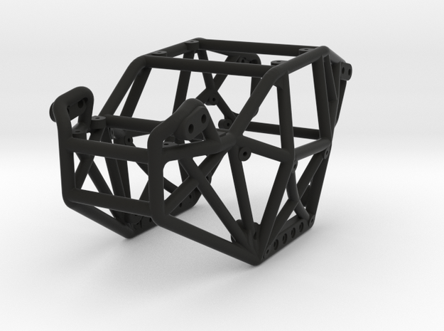 Goat v3 1/24th scale micro rock crawler chassis in Black Natural Versatile Plastic