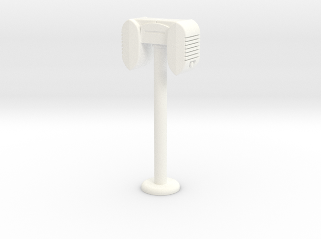 Drive In Speaker / Stand  - 1:7.5 Scale in White Processed Versatile Plastic
