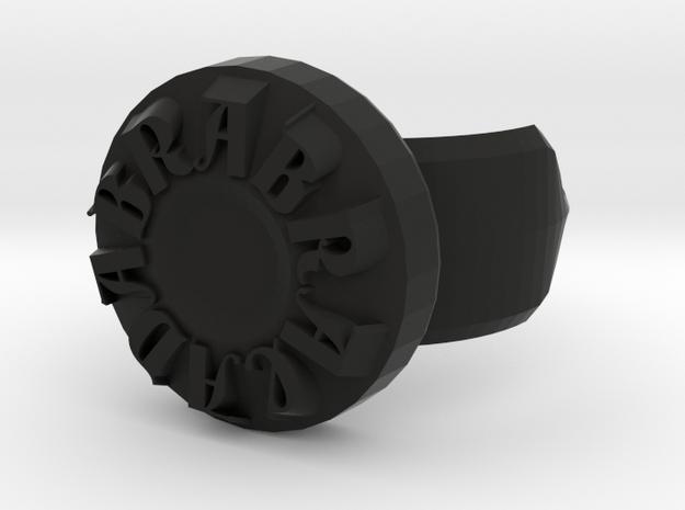 Abracadabra Ring in Black Natural Versatile Plastic