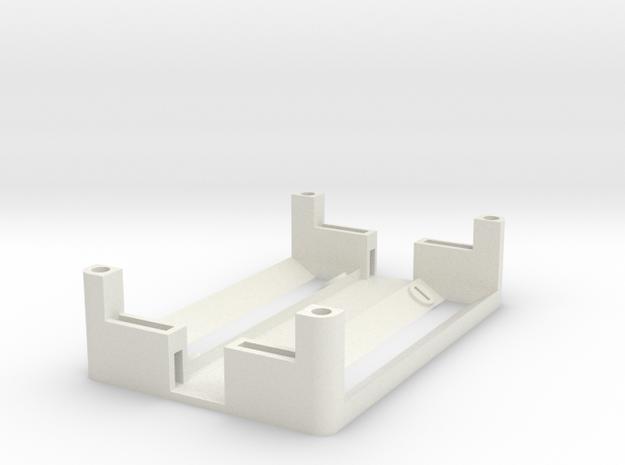 1550P 2x18650 Battery Sled in White Natural Versatile Plastic
