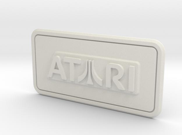 Atari Coin Door Tag (Over/Under) in White Natural Versatile Plastic