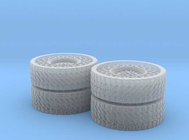 Airless Tire P2 1:87 in Smooth Fine Detail Plastic