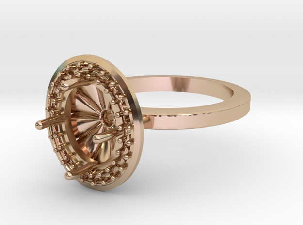 Large Oval Halo in 14k Rose Gold