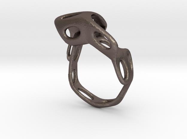 s4r021s6 GenusReticulum  in Polished Bronzed Silver Steel