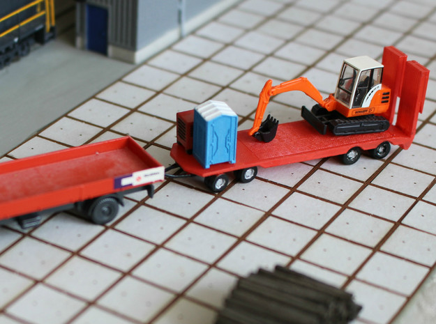 N Scale Construction Equipment Trailer