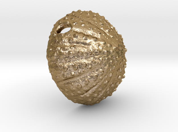 Large Urchin Pendant in Polished Gold Steel