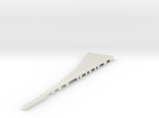 P-165w-tram-point-wedge-outer-LH-w-1a in White Natural Versatile Plastic