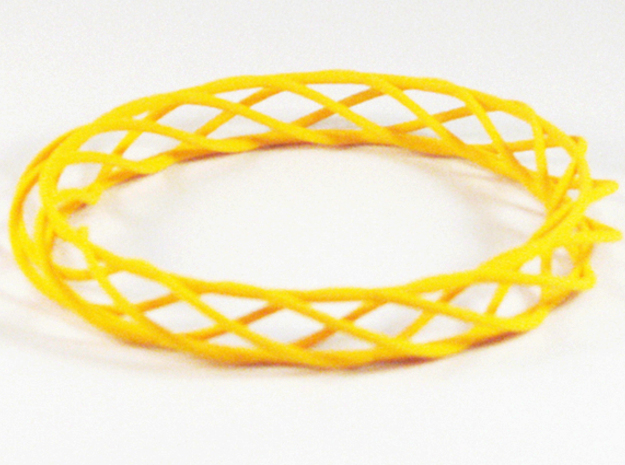 Twist Bangle A03M in Yellow Processed Versatile Plastic