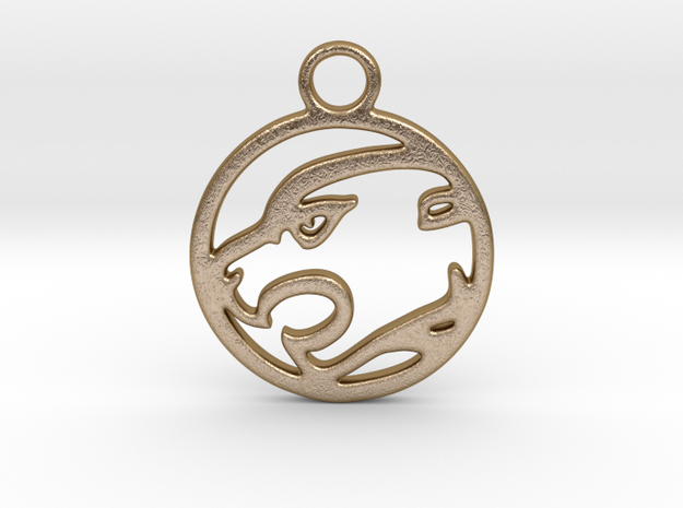 Panther Pendant in Polished Gold Steel