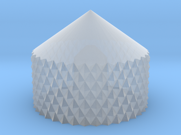 Knurled Knob .45 Scale in Smooth Fine Detail Plastic