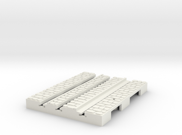 P-9-165stw-short-straight-1a in White Natural Versatile Plastic