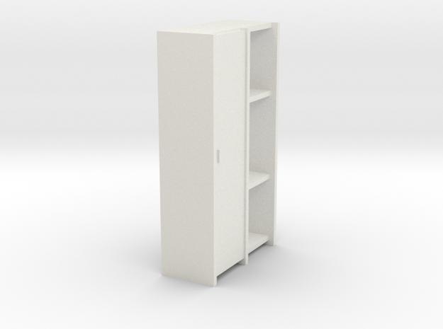 A 009 - 1 Schrank Cabinet 1:50 in White Natural Versatile Plastic