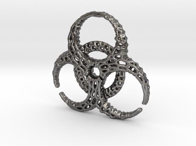 BioHazard Pendant in Polished Nickel Steel