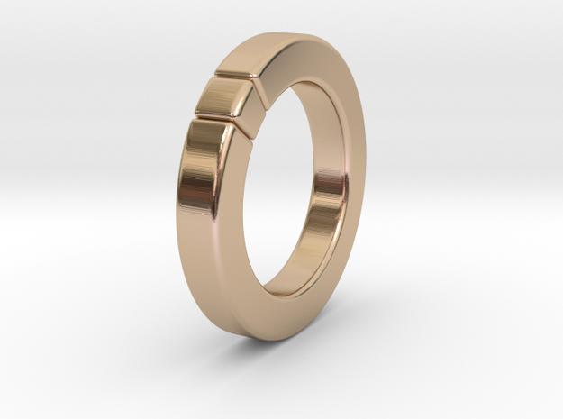 Caleb - Ring - US 6¾ - 17.12 mm 3d printed