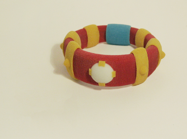 Zelda Fan Art: TLoZ: Power Bracelet in Full Color Sandstone