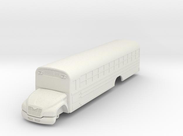Blue Bird Vision Bus in White Strong & Flexible